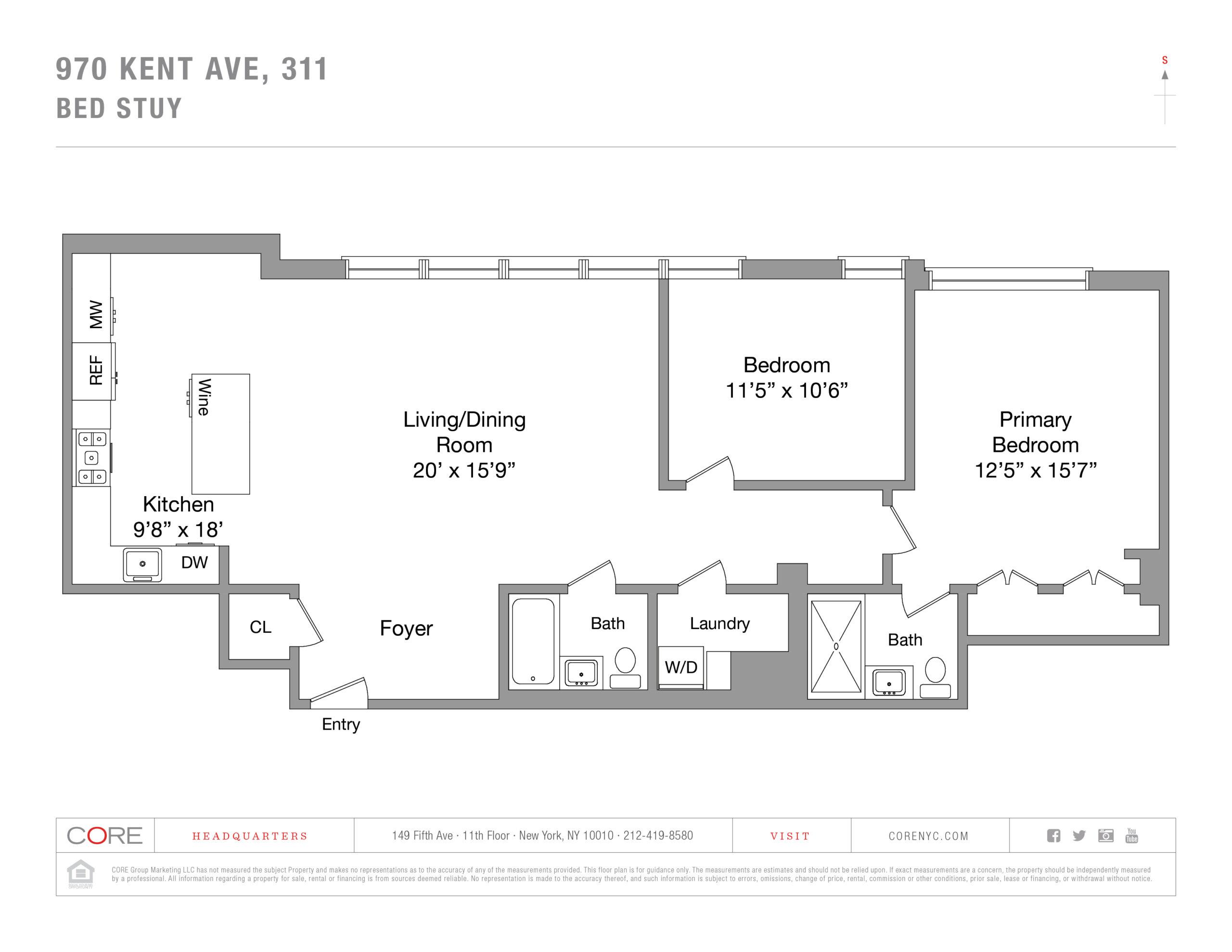 970 Kent Ave. 311, Brooklyn, NY 11205