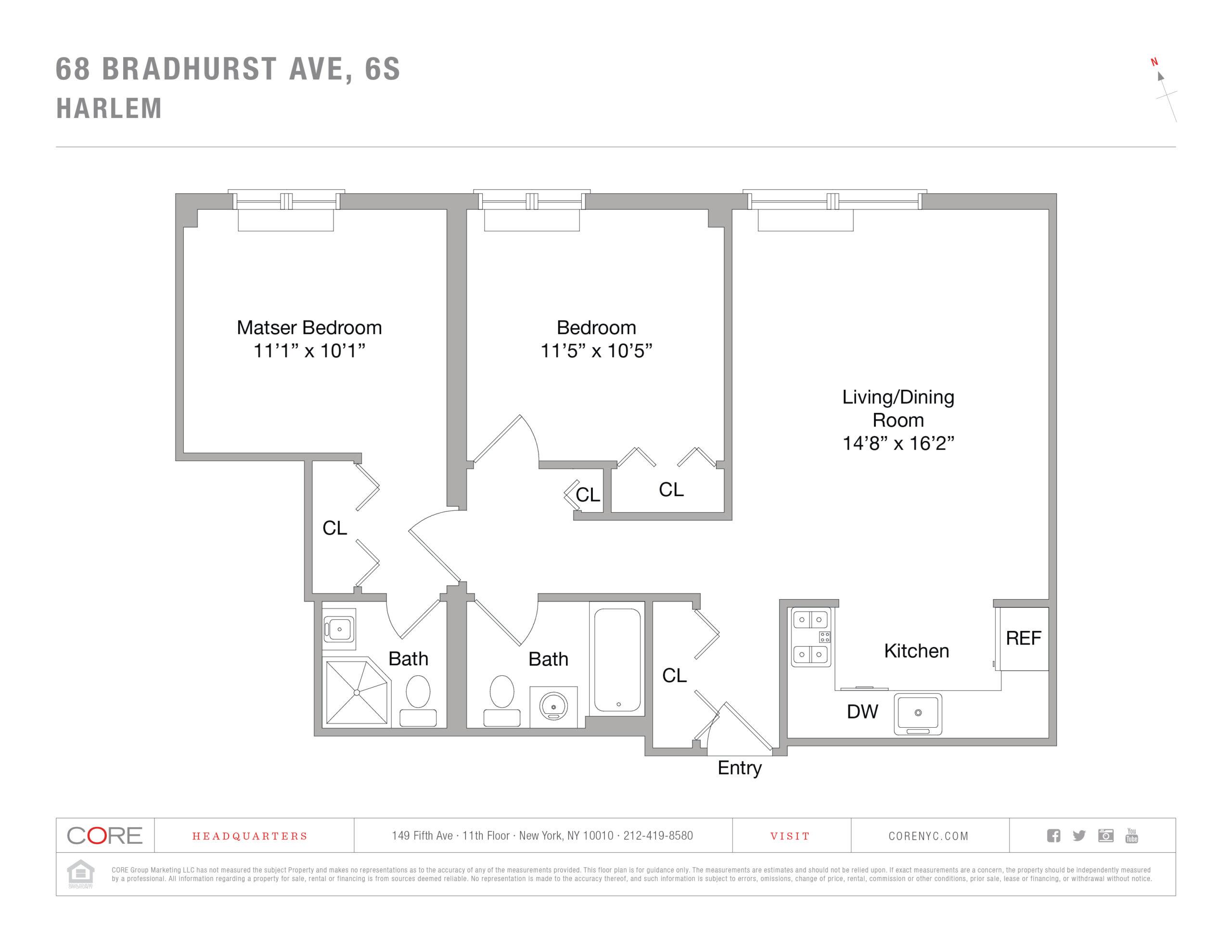 68 Bradhurst Ave. 6-S, New York, NY 10030