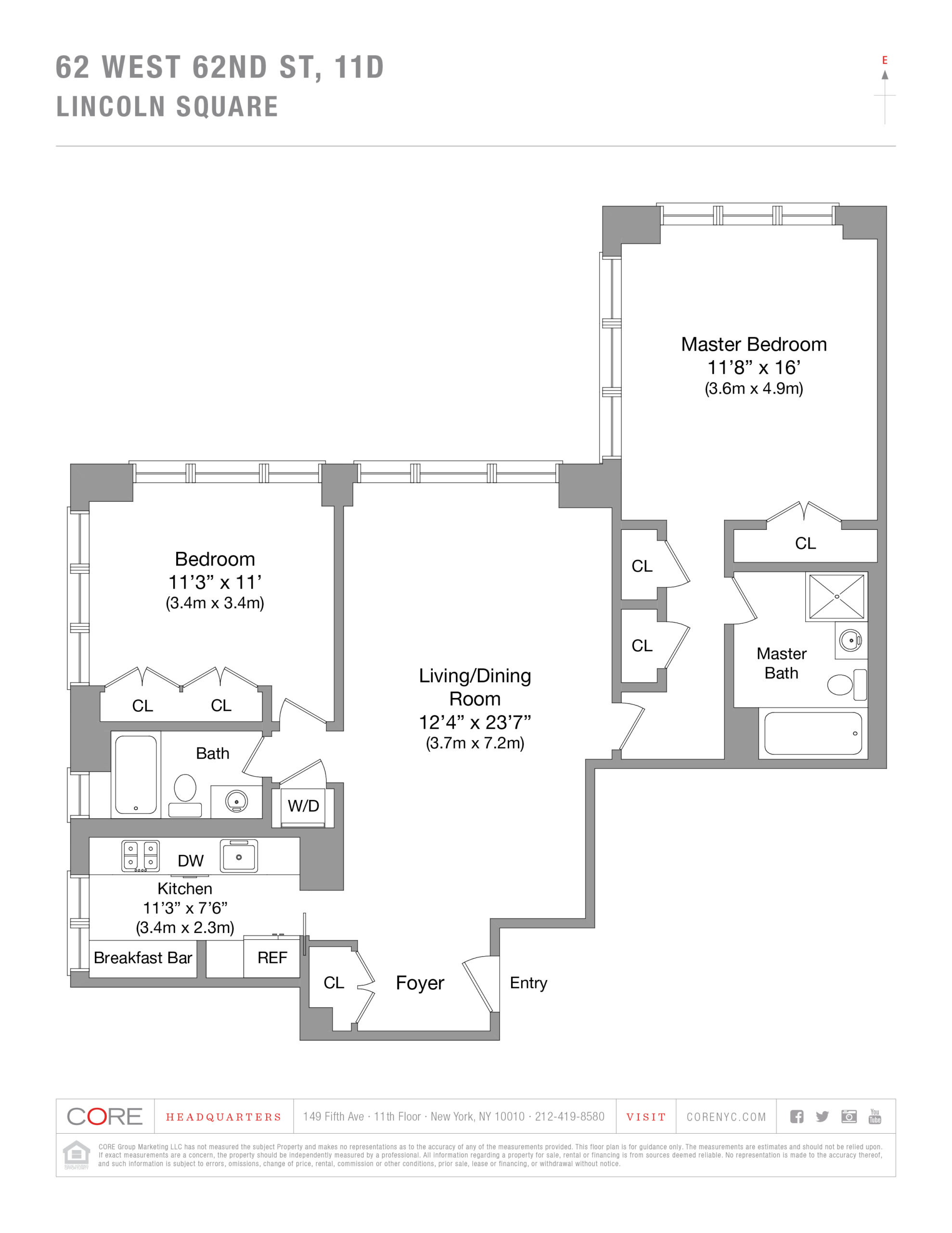 62 West 62nd St. 11D, New York, NY 10023